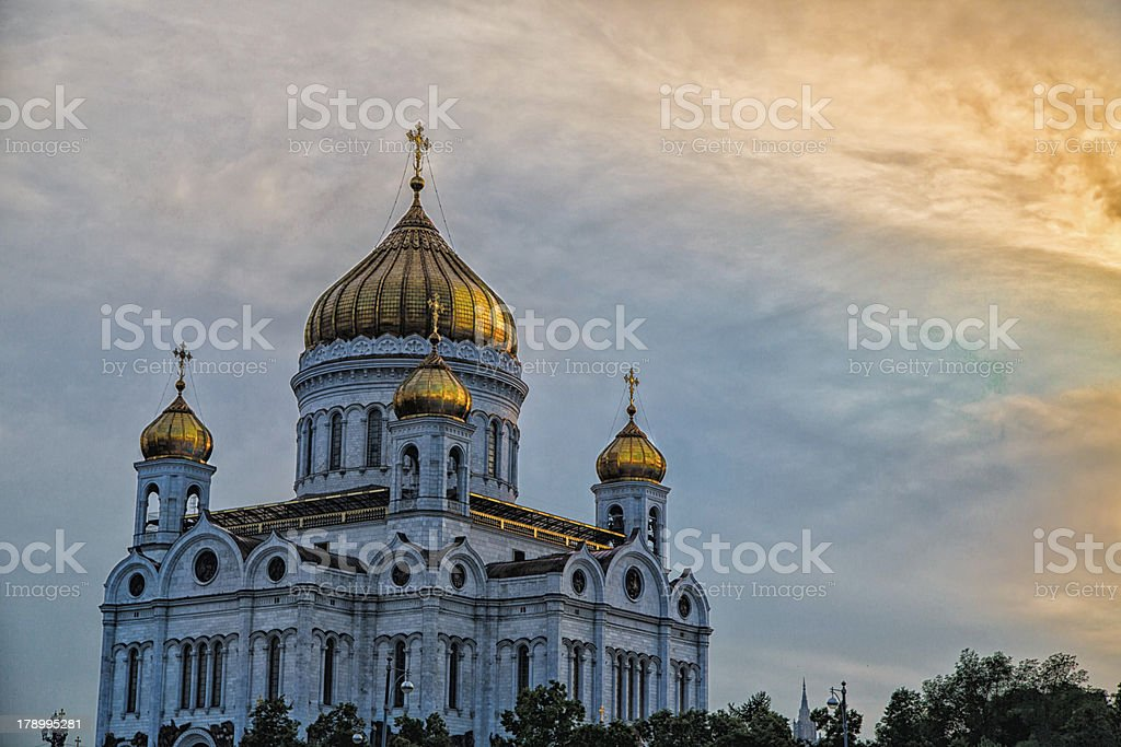 Cathedral of the Christ our Savior at Sundown royalty-free stock photo