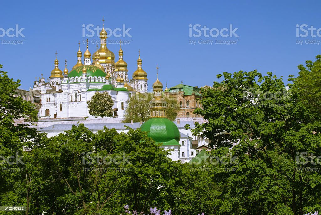 Cathedral of the Dormition, Kiev Pechersk Lavra,  Ukraine stock photo