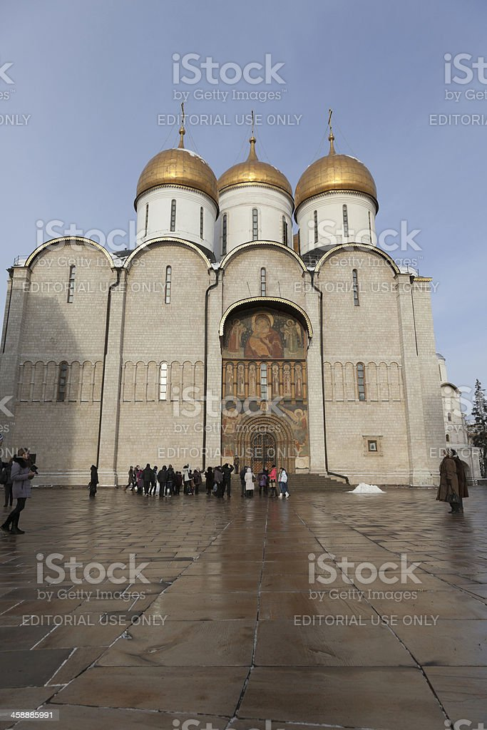 Cathedral of the Dormition. Kremlin. Moscow. Russia. royalty-free stock photo