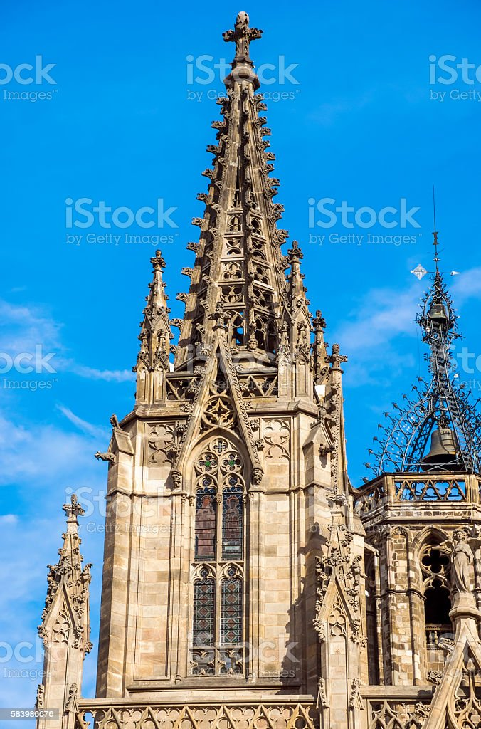 Cathedral of the Holy Cross and Saint Eulalia stock photo