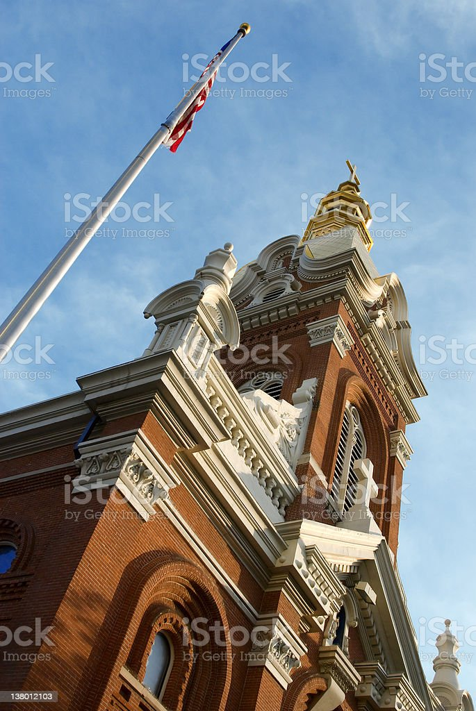 Cathedral of the Immaculate Conception in Kansas City royalty-free stock photo