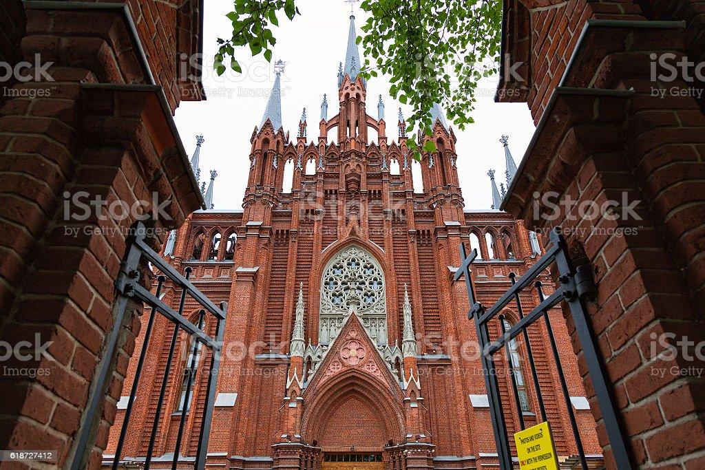 Cathedral of the Immaculate Conception of the Blessed Virgin Mary stock photo