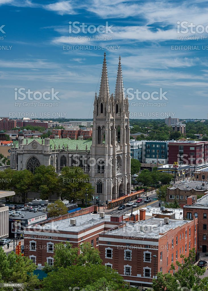 Cathedral of the Immaculate Conception stock photo