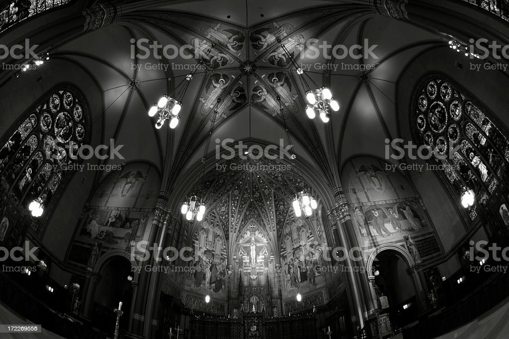 Cathedral of the Madeline stock photo