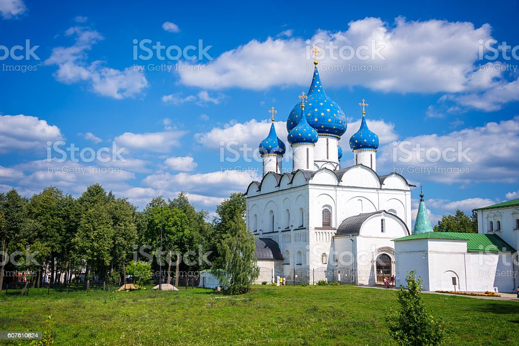 Cathedral of the Nativity in Suzdal, Golden Ring, Russia stock photo