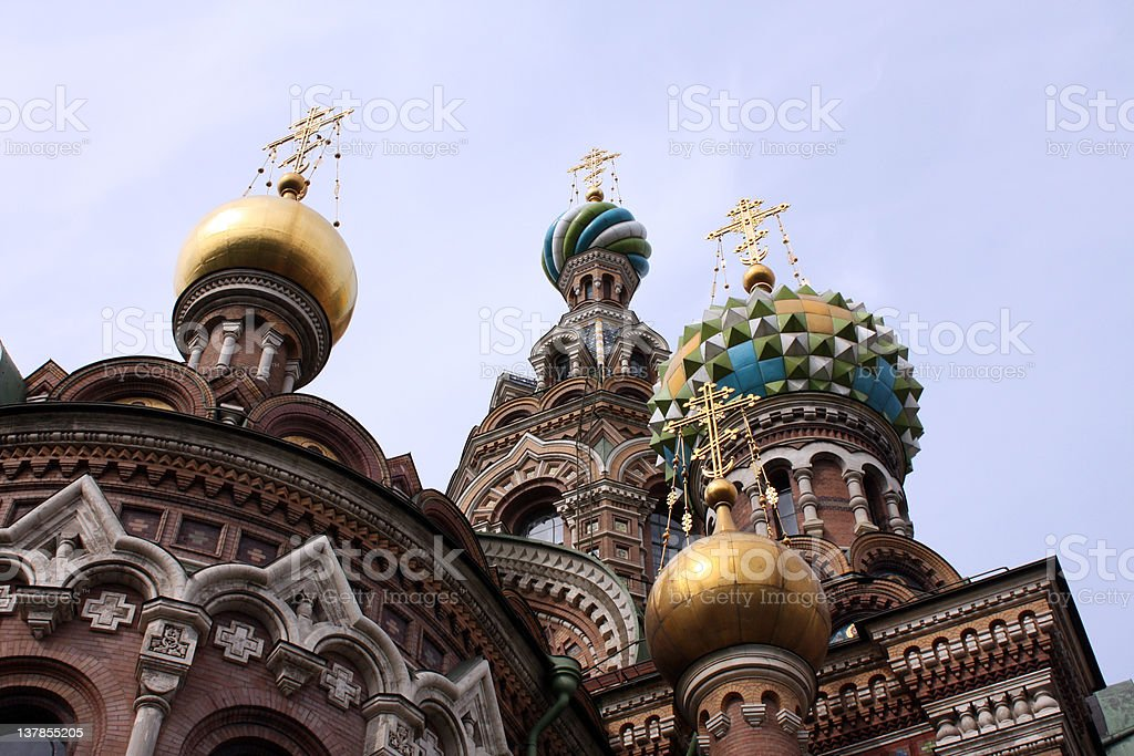 Cathedral of the Spilt blood, St Petersburg stock photo