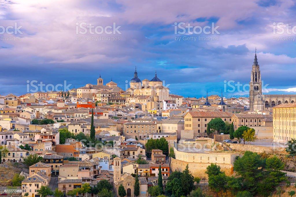 Cathedral of Toledo, Castilla La Mancha, Spain stock photo