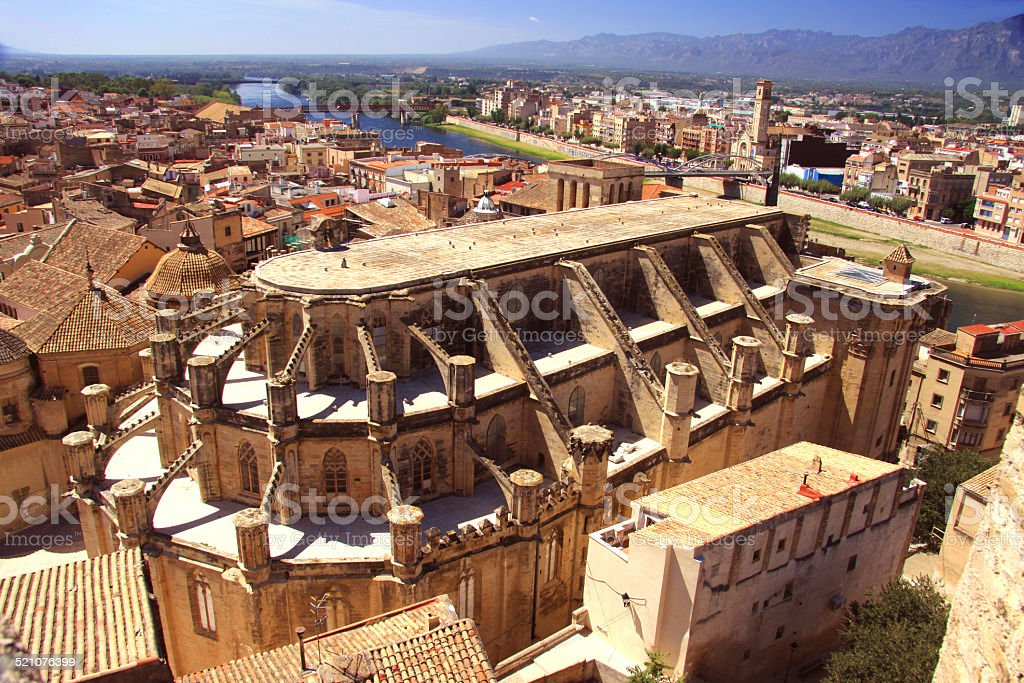 cathedral of Tortosa Spain stock photo