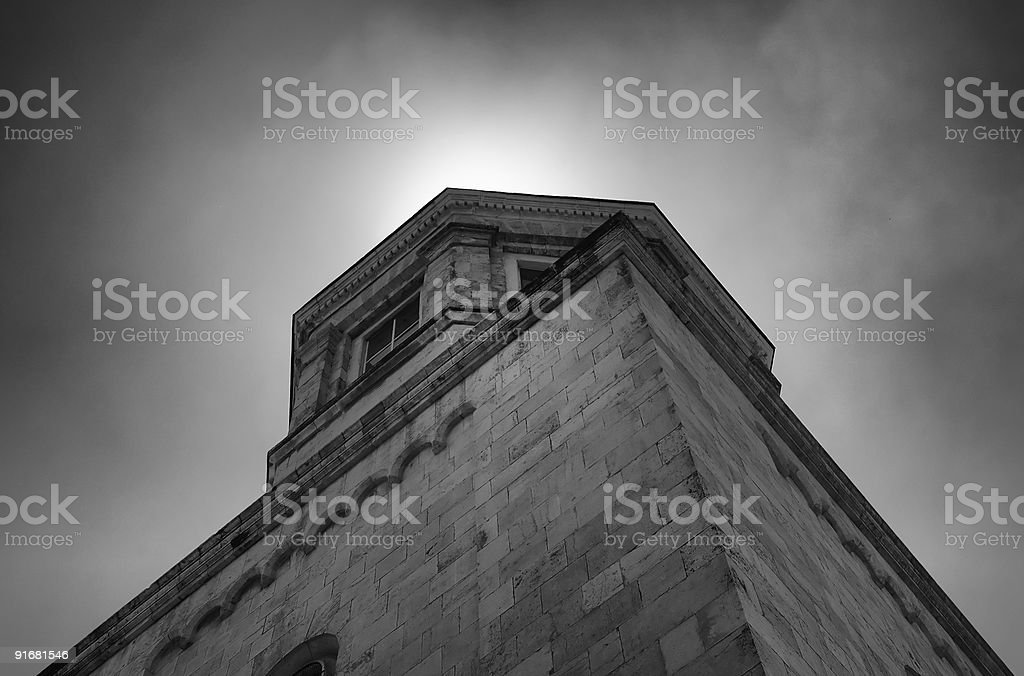 Cathedral of trinity in jerusalem stock photo