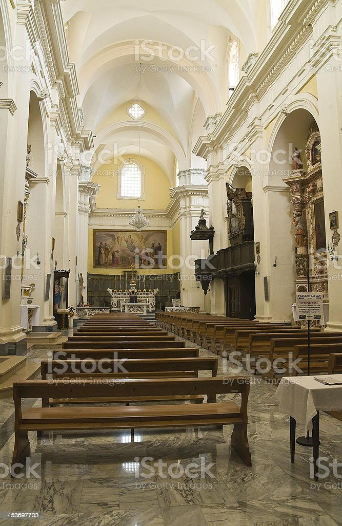 Cathedral of Ugento. Puglia. Italy. royalty-free stock photo