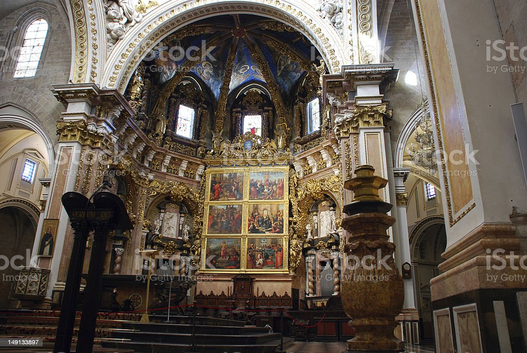 Cathedral of Valencia royalty-free stock photo