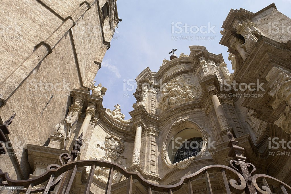 Cathedral of valencia stock photo