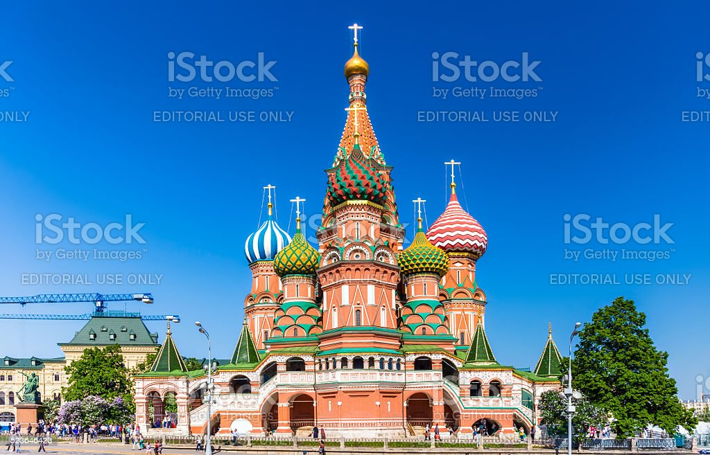 Cathedral of Vasily the Blessed stock photo