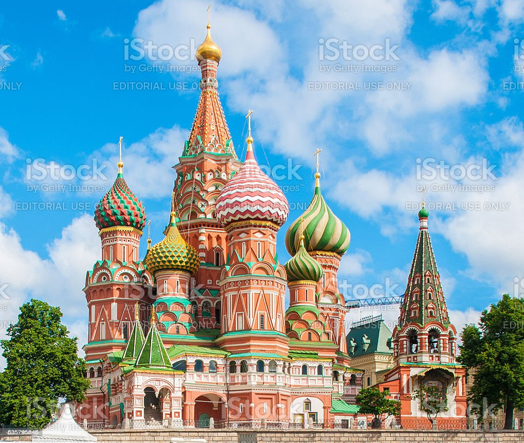 Cathedral of Vasily the Blessed (Saint Basil's Cathedral) stock photo