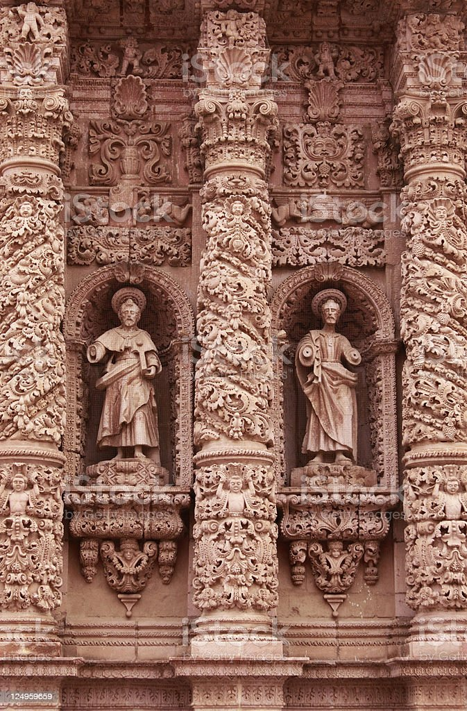 Cathedral of Zacatecas stock photo