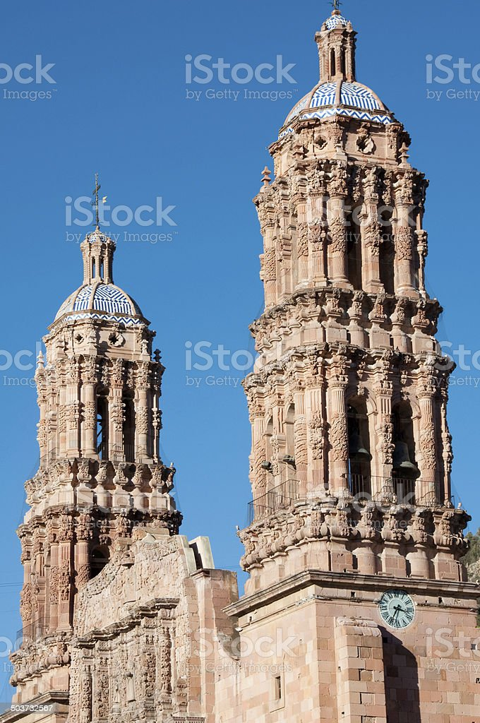Cathedral of Zacatecas (Mexico) stock photo