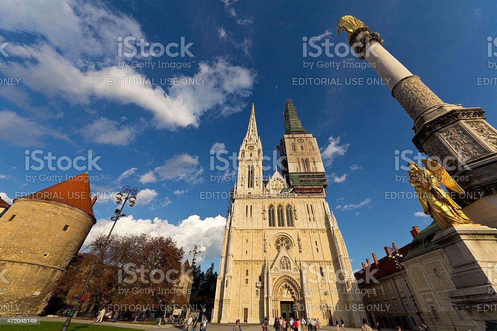 Cathedral of Zagreb, Croatia stock photo