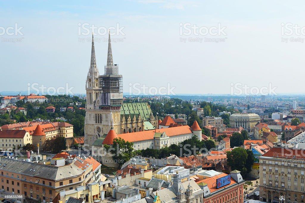 Catedral de Zagreb foto de stock libre de derechos