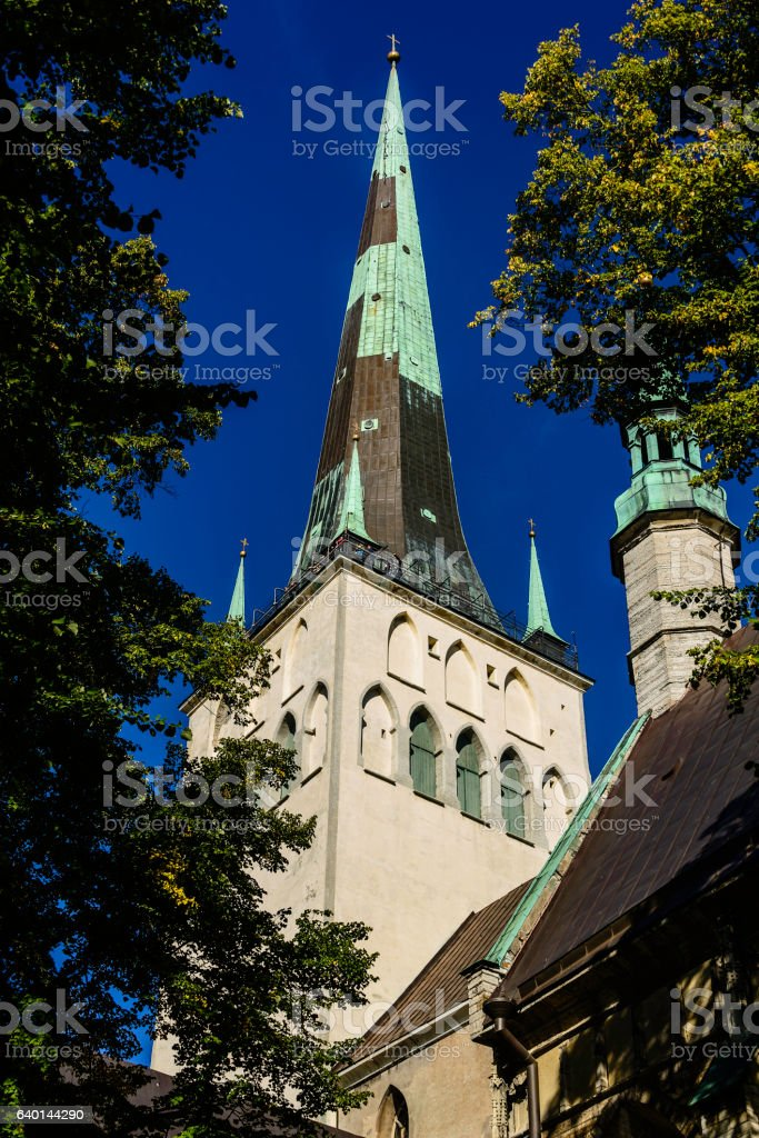 Cathedral, Old Town, Tallinn, Estonia stock photo