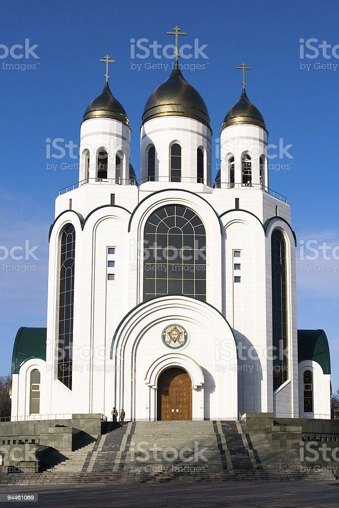 Cathedral orthodox church in Kaliningrad stock photo