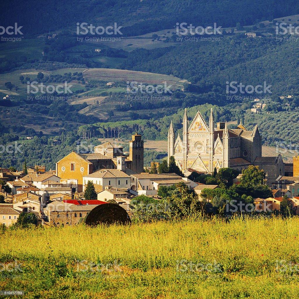 Cathedral, Orvieto Umbria, Italy stock photo