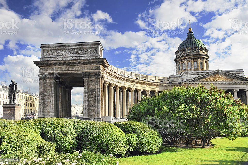 Cathedral - Our Lady of Kazan, Saint Petersburg royalty-free stock photo