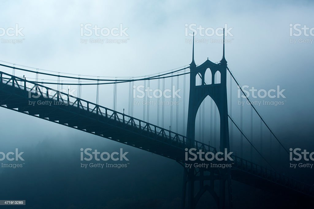 Cathedral Park in Portland Oregon royalty-free stock photo