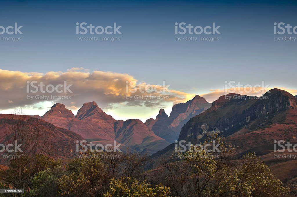 Cathedral Peak stock photo