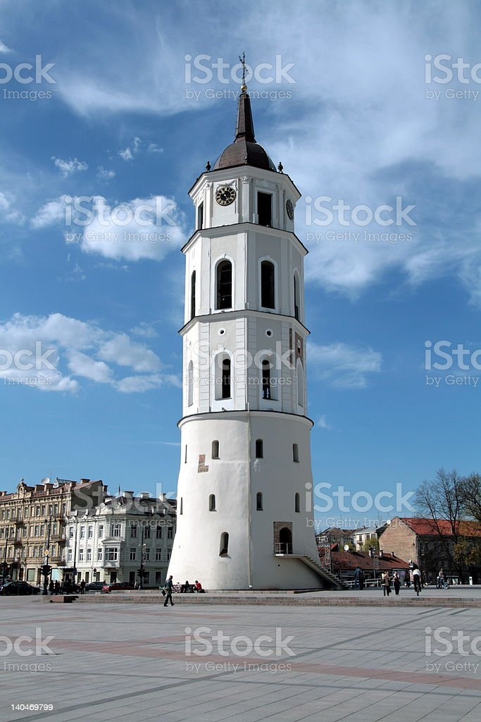 Cathedral Place with belfry royalty-free stock photo