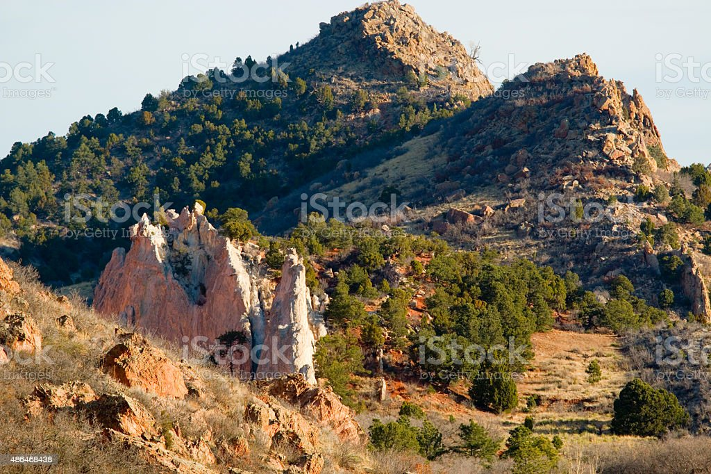 Cathedral Rock in Garden of the Gods stock photo