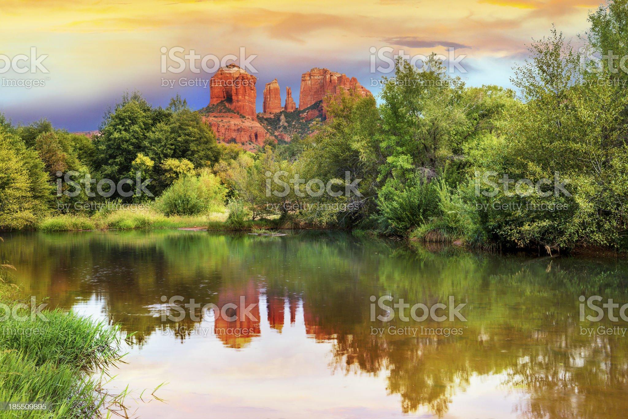 Cathedral Rock in Sedona, Arizona royalty-free stock photo