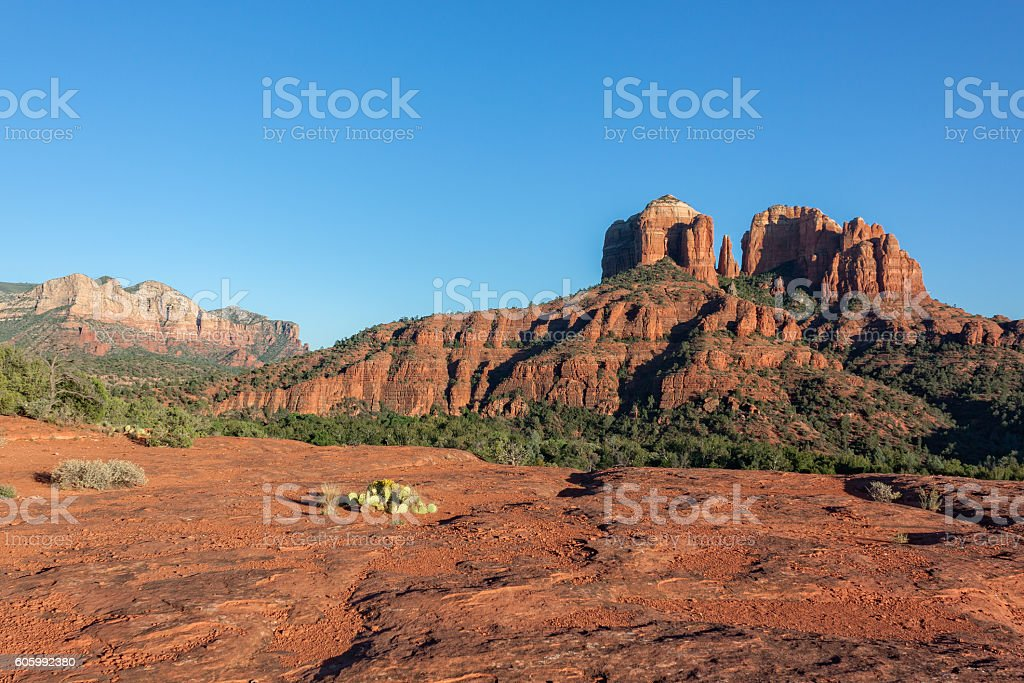 Cathedral Rock landscape stock photo