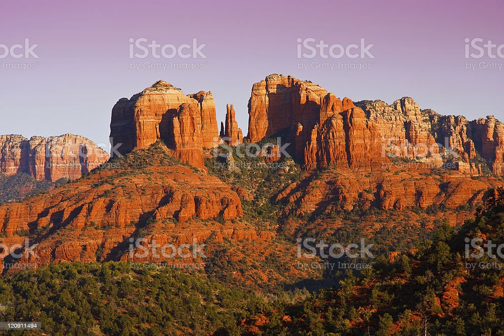 Cathedral Rock near Sedona, Arizona in Sepia stock photo