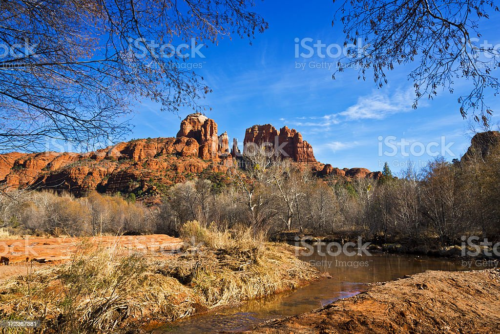 Cathedral Rock near Sedona royalty-free stock photo