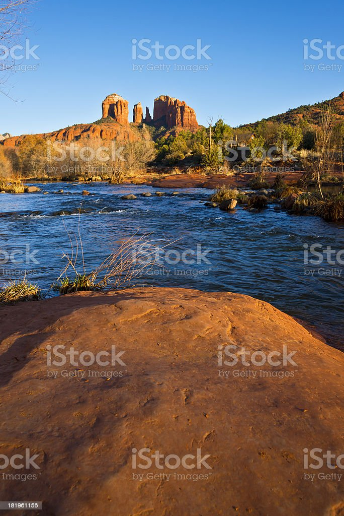 Cathedral Rock near Sedona royalty-free stock photo