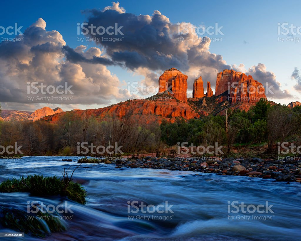 Cathedral Rock near Sedona stock photo
