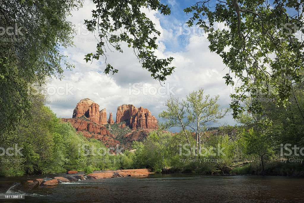Cathedral Rock stock photo