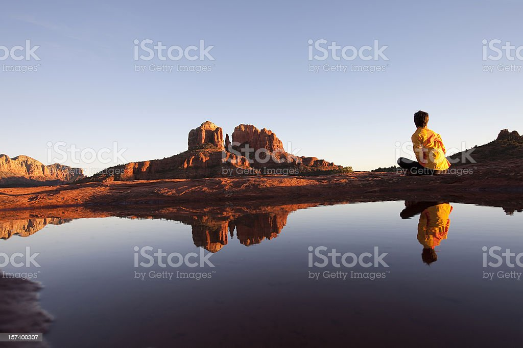 Cathedral Rock Sedona Arizona stock photo