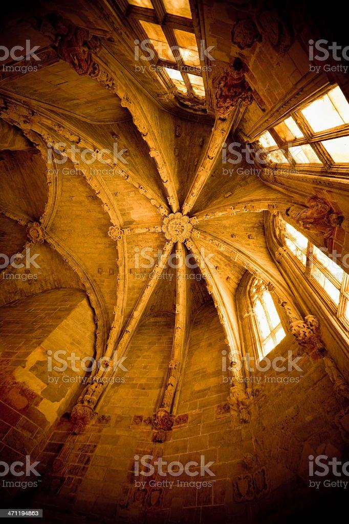 Cathedral Roof Interior La Seu Vella stock photo