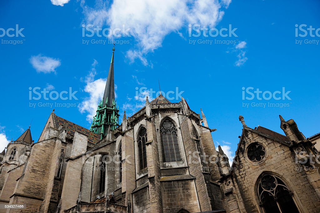 Cathedral Saint Bénigne in Dijon, France. stock photo