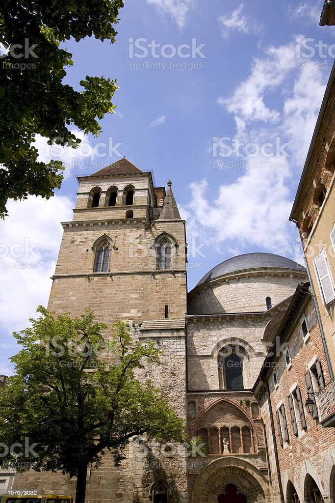 Cathedral Saint Etienne, Cahors, Lot, France stock photo
