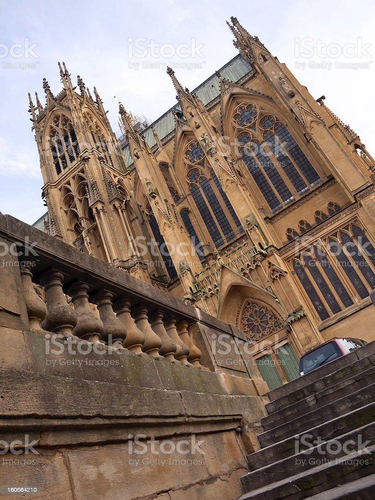 Cathedral Saint Etienne in Metz, France royalty-free stock photo