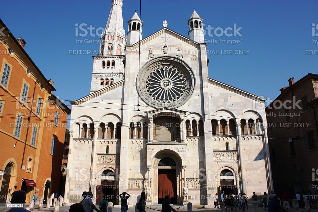Cathedral San Geminiano and Torre Ghirlandina in Modena, Italy stock photo