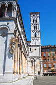 Cathedral San Michele in Foro in Lucca, Italy