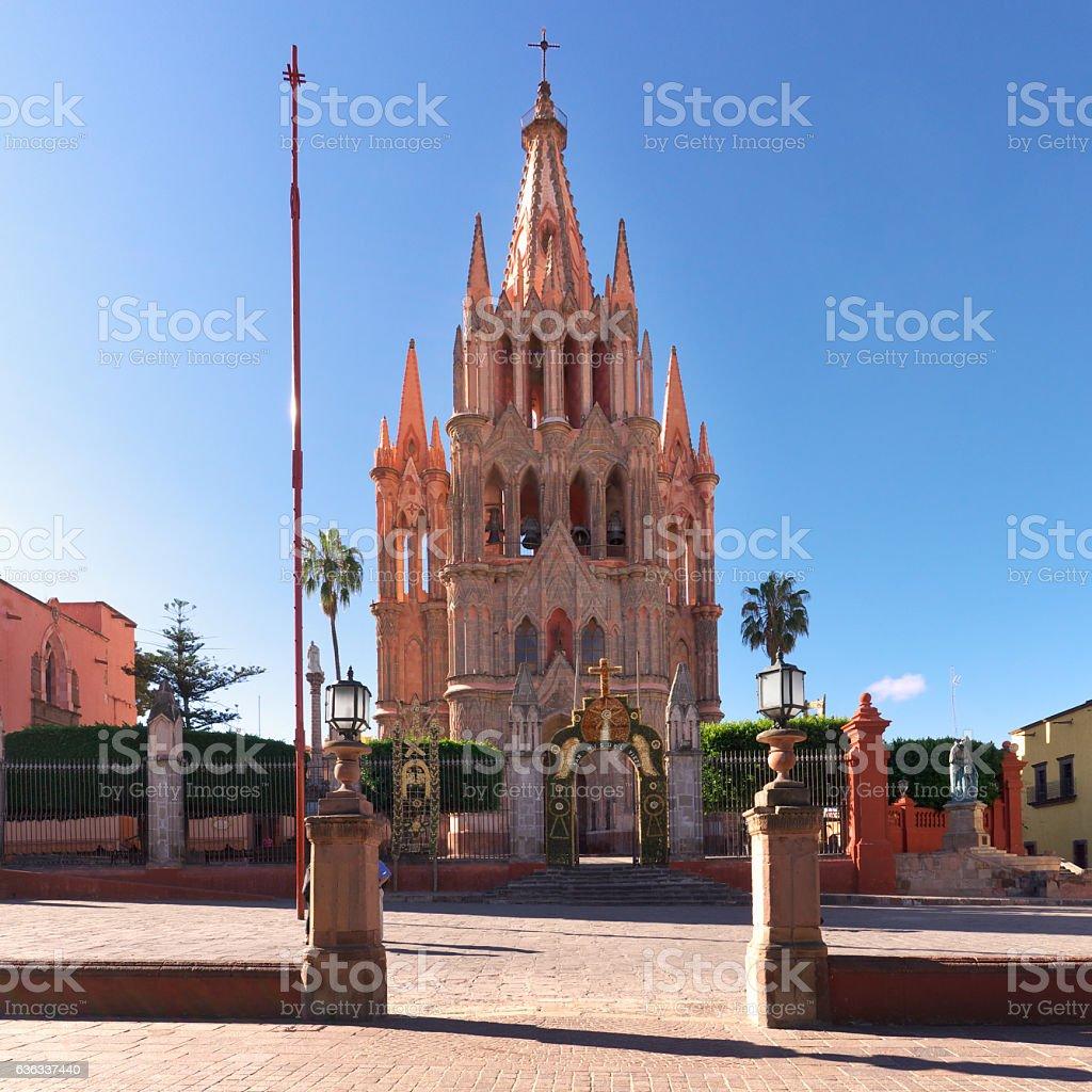 Cathedral, San Miguel de Allende, Mexico stock photo