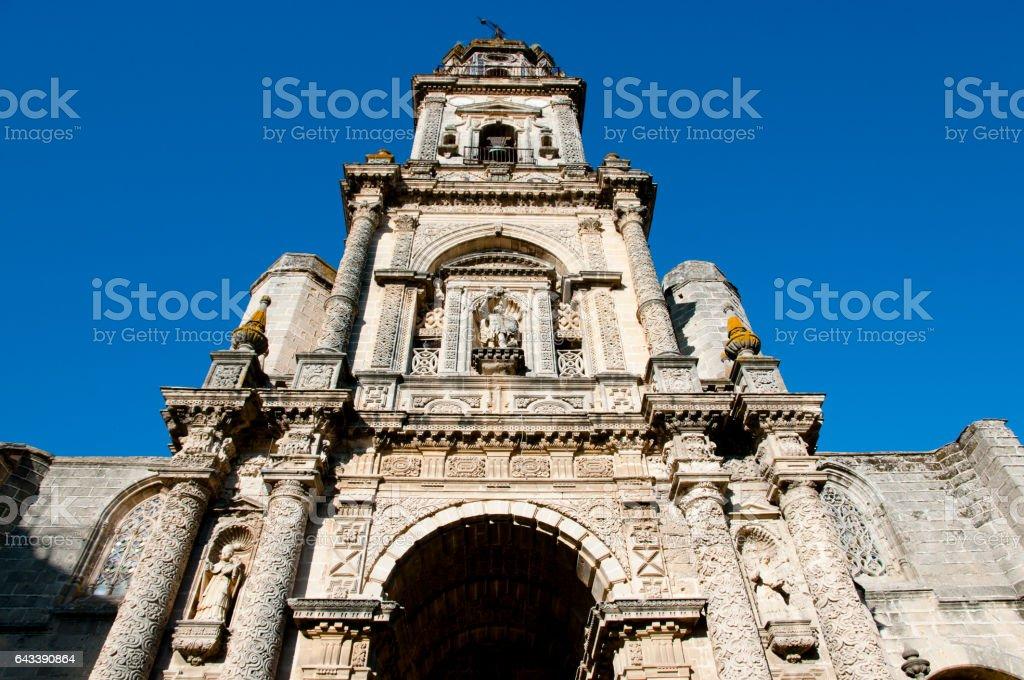 Cathedral San Salvador - Jerez de la Frontera - Spain stock photo