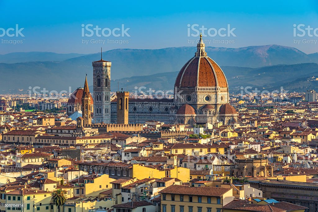 Cathedral Santa Maria del Fiore , Florence , Italy stock photo