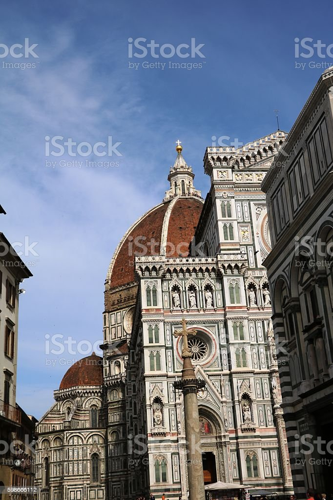 Cathedral Santa Maria del Fiore in Florence Italy stock photo