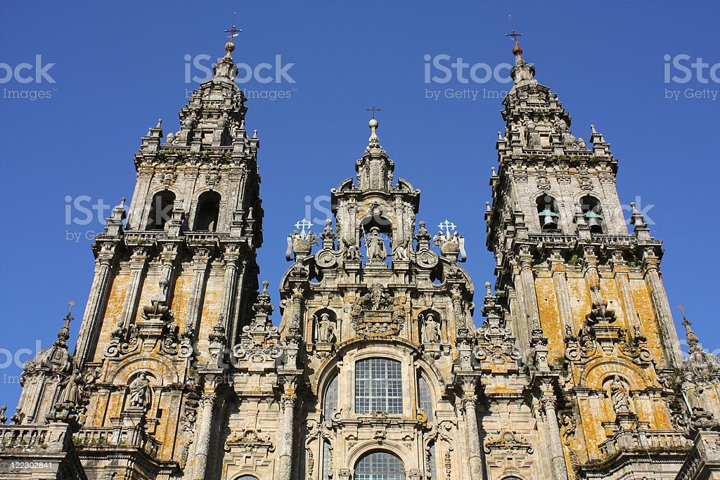 Cathedral - Santiago de Compostela, Spain royalty-free stock photo