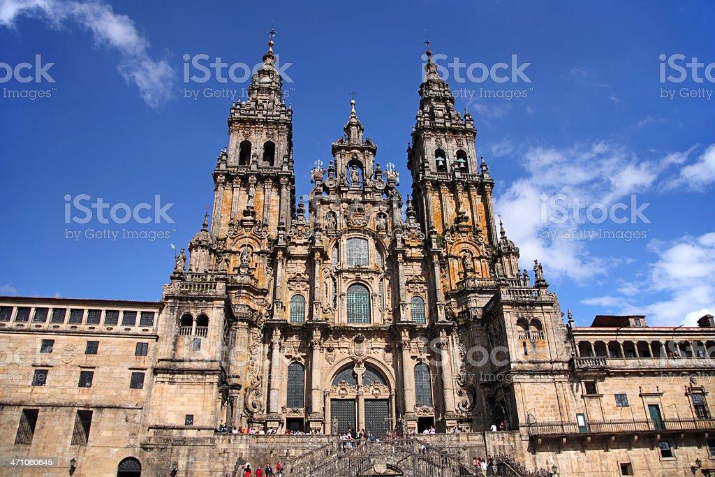 Cathedral - Santiago de Compostela, Spain stock photo